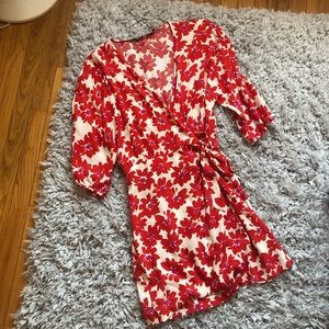 Red Flower H&M Wrap Dress